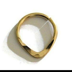 Septum ring- 14K gold
